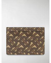 Burberry Sandon Tb Print Card Holder - Brown