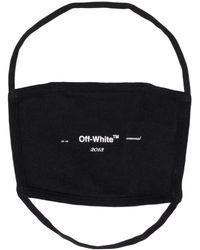 Off-White c/o Virgil Abloh Mundschutz mit Logo-Print - Schwarz