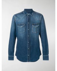 Dolce & Gabbana - Camicia in stile western - Lyst