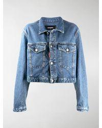 DSquared² Boxy Fit Denim Jacket - Blue