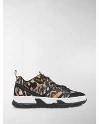 Burberry Leopard Print Union Trainers - Brown