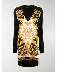 Versace Barocco Rodeo Print Dress - Black