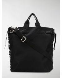 Neil Barrett Men's Market Bag Stencil Logo Printed Nylon - Black