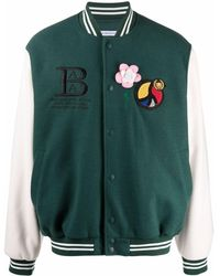 BEL-AIR ATHLETICS Logo-embroidered Bomber Jacket - Green