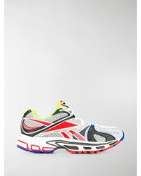 Vetements Gray And Red Reebok Edition Spike Runner 200 Sneakers