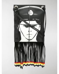 JW Anderson Gilbert & George Policeman Printed Neck Pouch - Black