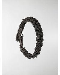 Emanuele Bicocchi Geflochtenes Armband - Mettallic