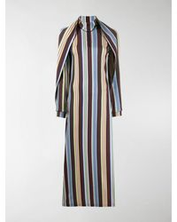 Y. Project Fitted Stripe Dress - Brown