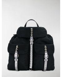 Prada - Studded Vela Backpack - Lyst