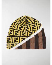 b1a824f8a Fendi Zucca Bandana Hat in Brown for Men - Lyst