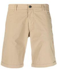Barena Knee-length Cotton Chino Shorts - Natural
