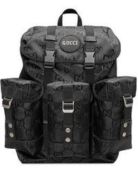 Gucci Logo-print Nylon Backpack - Black