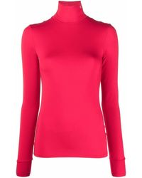 Raf Simons Roll-neck Jersey Top - Red