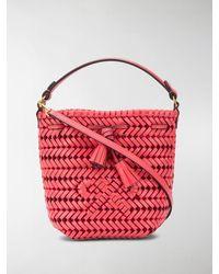 Anya Hindmarch Neeson Woven Bucket Bag - Red