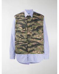 Junya Watanabe Long Sleeve Camouflage Print Shirt - Green