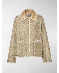 Burberry Monogram Printed Silk Jacket - Brown