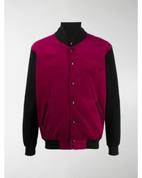 Youths in Balaclava Colour-block Bomber Jacket - Pink