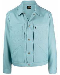 Needles Giacca-camicia aderente - Blu