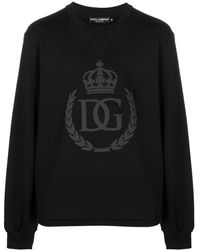 Dolce & Gabbana Dg Logo Crew-neck Sweatshirt - Black