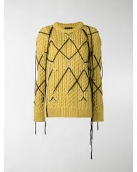CALVIN KLEIN 205W39NYC Intarsia Knit Jumper - Yellow