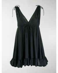 Balenciaga Ruffle Hem Top - Black