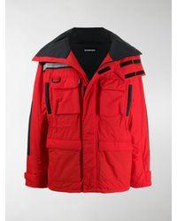 Balenciaga Light Parka Coat - Red