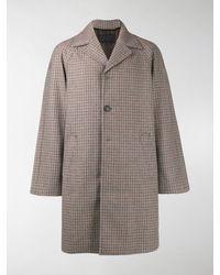 Prada Tweed Single-breasted Coat - Gray
