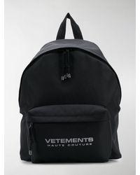 Vetements Reflector Backpack - Black