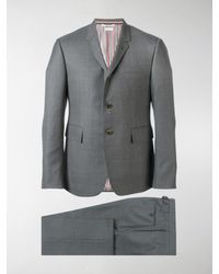Thom Browne Super 120s Wool Twill Suit - Gray