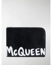 Alexander McQueen Logo-print Document Holder - Black