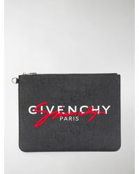 Givenchy Clutch con stampa - Nero