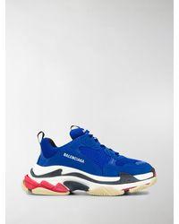 Balenciaga Sneakers Triple S - Blu
