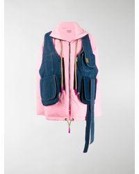 Natasha Zinko Denim Layered Padded Jacket - Pink