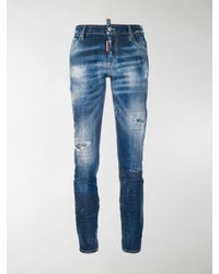 DSquared² Cool Girl Cropped Jeans - Blue