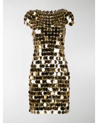 Paco Rabanne Chainmail Mini Dress - Metallic