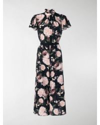 Erdem Floral Cropped Jumpsuit - Black