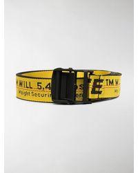 Off-White c/o Virgil Abloh Logo-tape Adjustable-fit Belt - Yellow