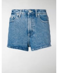 Chiara Ferragni - Wink Eye Denim Shorts - Lyst