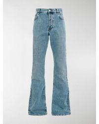 Balenciaga Straight Bootcut Jeans - Blue