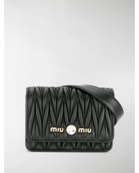 Miu Miu Matelassè Belt Bag - Black