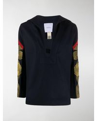 Patou Embroidered Long Sleeve Tunic - Blue