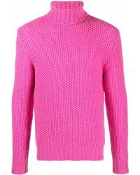 Mp Massimo Piombo Strukturierter Rollkragenpullover - Pink