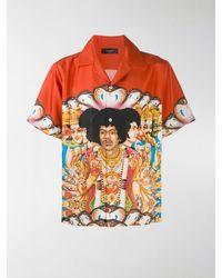 Amiri Camicia Jimi Hendrix - Arancione