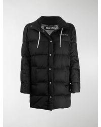 Miu Miu Gabardine Puffer Jacket - Black
