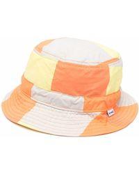 Sunnei Colour-block Bucket Hat - Orange