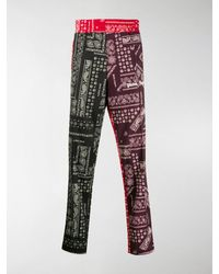 Palm Angels - Contrast Paisley Track Pants - Lyst