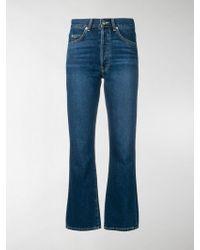 Eve Denim Jeans crop svasati Jane - Blu