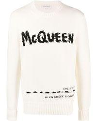Alexander McQueen Intarsien-Pullover - Mehrfarbig