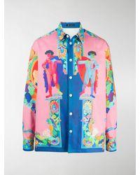 Versace Hemd mit Malerei-Print - Pink