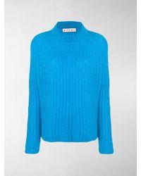 Marni Rib Knit Jumper - Blue